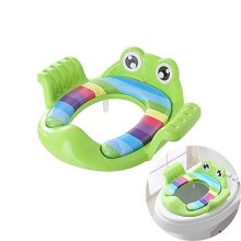 SOOTA Children Toilet Training Seat, Secure Anti-Slip Potty Seat with Soft Cushion Handles, Potty Training Toilet Seat with Splash Guard Perfect for