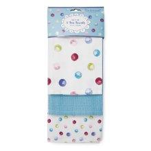Cooksmart Spotty Dotty Pack of 3 Tea Towels