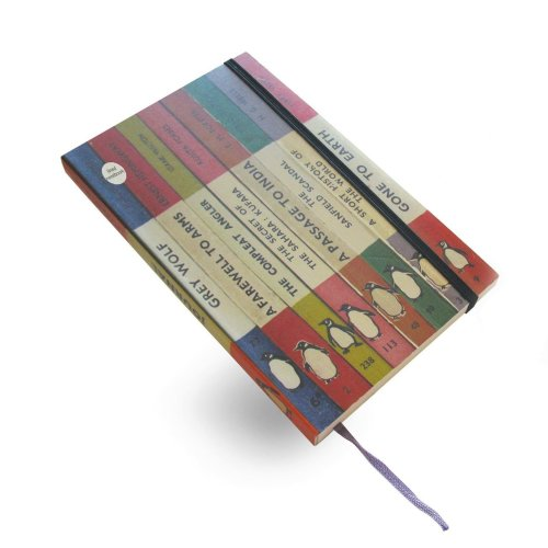 Penguin Spines Lined Large Notebook