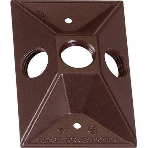 14373BR 1 Gang Bronze Weatherproof Rectangular Lampholder Cover