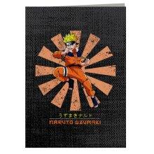 Naruto Uzumaki Retro Japanese Greeting Card
