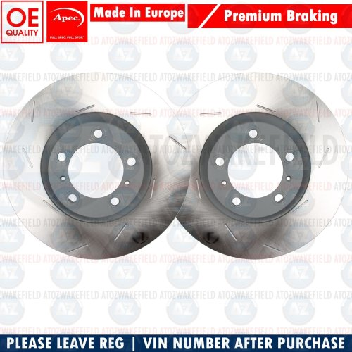 FOR PORSCHE MACAN 2014- PREMIUM APEC FRONT SLOTTED BRAKE DISCS PAIR 350mm