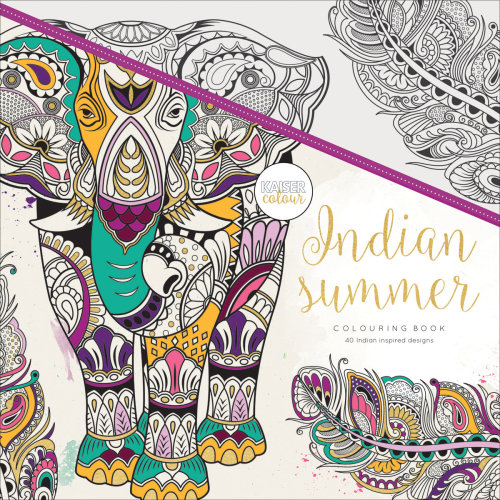 "KaiserColour Perfect Bound Coloring Book 9.75""X9.75""-Indian Summer"