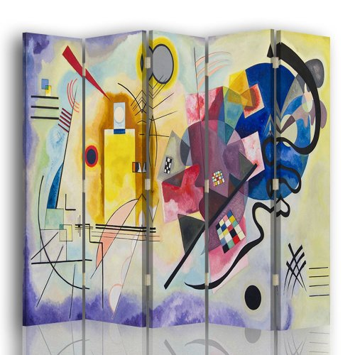 Room Divider Yellow, Red, Blue - Wassily Kandinsky