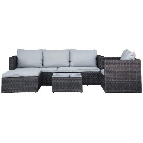 5pc Rattan Modular Garden Corner Sofa Set