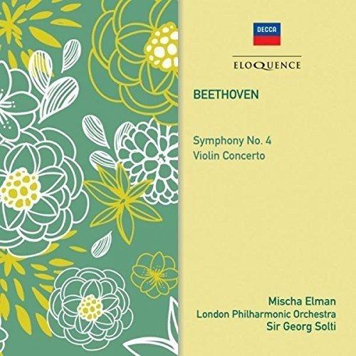 Sir Georg Solti Mischa Elman - Beethoven: Symphony No. 4 /  Violin Concerto [CD]