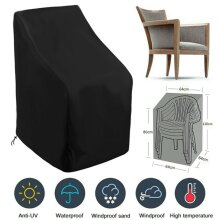 Strong Stacking Chairs Cover Garden Waterproof Stacking Chair Furniture Cover