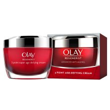 Olay Regenerist 3 Point Firming Anti-Ageing Cream Moisturiser and Reduces The Look of Wrinkles, 50 ml