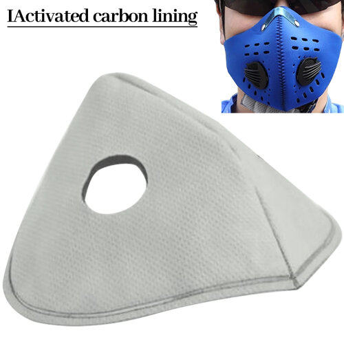 10 Pcs Respirable Microfiber Removable and Washable Activated Carbon Mask