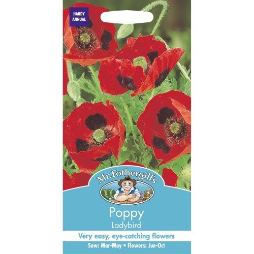 Mr Fothergills - Pictorial Packet - Flower - Poppy Ladybird - 1000 Seeds