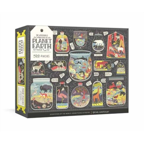 Wondrous Workings of Planet Earth Puzzle Ecosystems of the World 500-Piece Jigsaw Puzzle and Poster