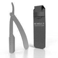 Silver Cut Throat Razor - Includes Travel Pouch & 10 Blades