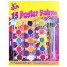 ArtBox Kid's Poster Paints Set - 15 Colours