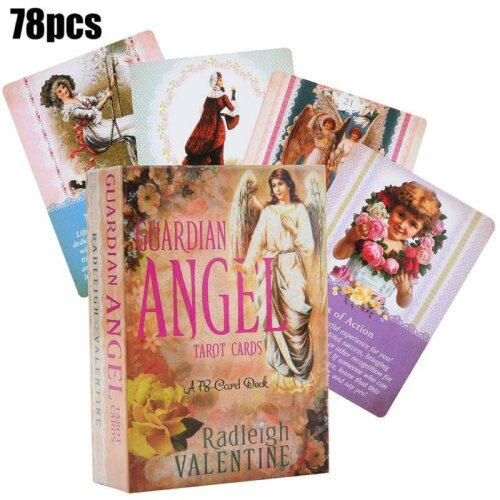 Guardian Angel Tarot Cards 78-Card Deck Angel Oracle Divination Cards Game Gift