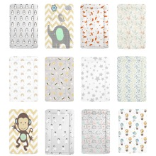 Deluxe Boy Girl Changing Mat - Large Padded Waterproof Wipe Clean Baby Changing Mat with Raised Edges