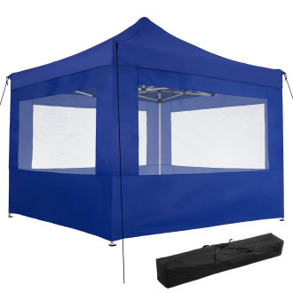 Gazebo collapsible 3x3 m with 4 Sides - Olivia -
