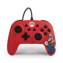 Enhanced Wired Controller For Nintendo Switch - Mario (New)