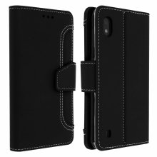 Wallet Folio Case with Stand for Samsung Galaxy A10 - Black
