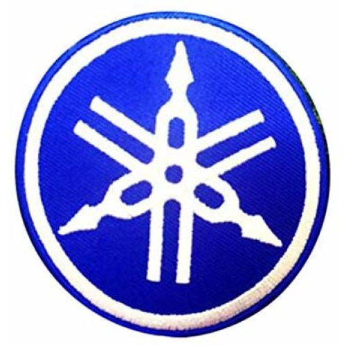 (Blue) YAMAHA Motorcycle   Embroidered  Iron On Patch