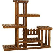 5 Tier Wooden Garden Plant Shelf
