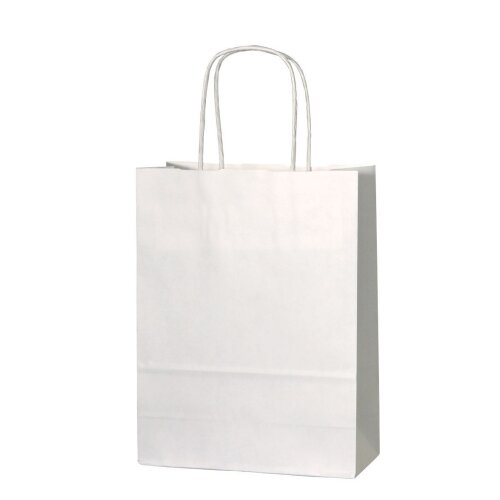 50 x White Paper Bags with Twisted Handle - 32cm x 41cm x 12cm (LARGE)