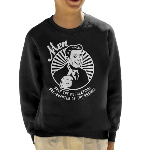 Anti Men Joke Retro Kid's Sweatshirt