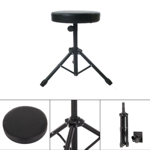 Durable Folding Music Guitar Drum Stool Throne Piano Chair Padded