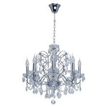 MW-LIGHT Crystal 367013408 Chrome Color Metal Crystal Glass 8*60W E14