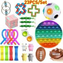 23PCS Fidget Toys Set Sensory Tools Bundle Stress Relief Hand