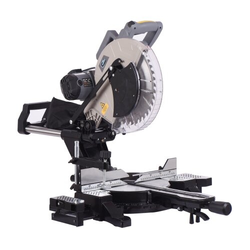 """SwitZer Mitre Saw 12"""" Compound Sliding 1800W Double Bevel Cut with Laser Blade"""
