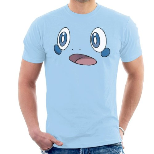 (XX-Large, Sky Blue) Pokemon Sword And Shield Sobble Face Men's T-Shirt