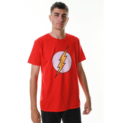 DC Comics Boys Distressed Flash Logo Short Sleeve T-Shirt