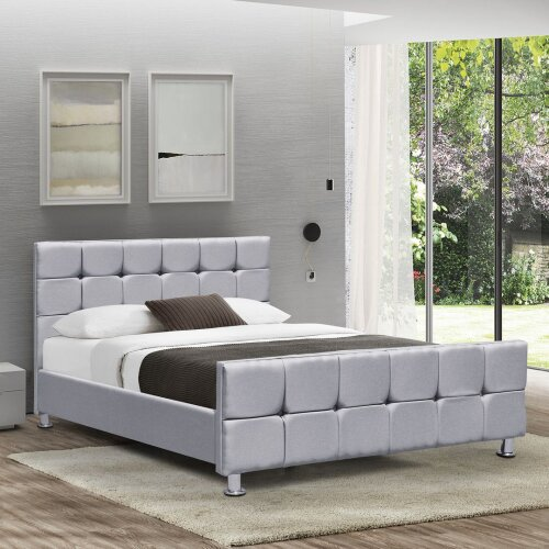 (Light Grey Linen, Double) Home Discounts Valentina Bed Frame