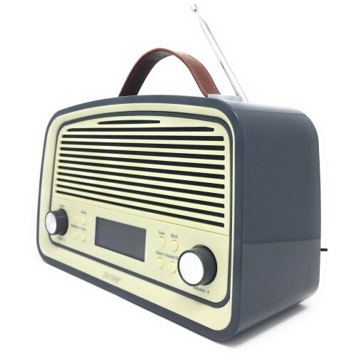 Denver DAB-38 Retro DAB Radio with 2.4 Inch Display, DAB+ and Clock / Alarm