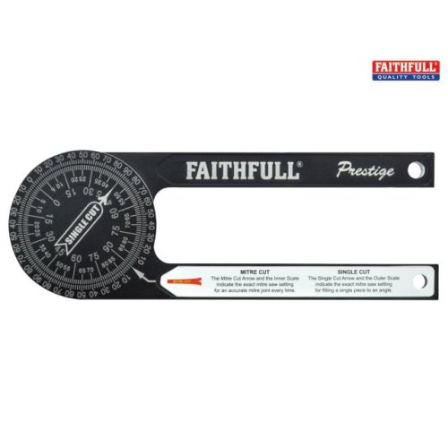 Faithfull Prestige Mitre Saw Protractor Black Aluminium