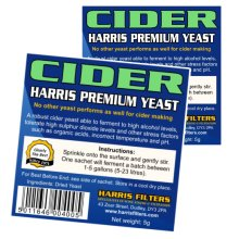2x Harris Cider Yeast Premium Quality 5g makes 5-23L 1-5 Gallons