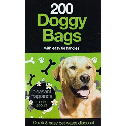 Pets at Play DOGGY WASTE BAGS 200 pack poo nappy bags