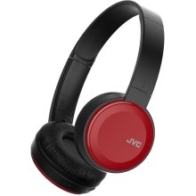JVC Deep Bass Bluetooth Wireless On Ear Headphone - Red (Model No. HAS30BTRE) - Refurbished