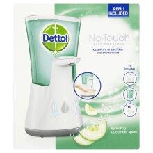 Dettol No Touch Hand Wash System, Hydrating Cucumber Splash 250 ml