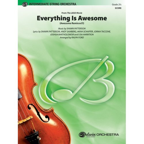 Alfred Everything Is Awesome (From The LEGO Movie) Conductor Score