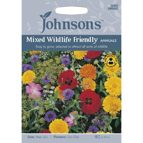 Johnsons Seeds - Pictorial Pack - Flower - Mixed Wildlife Friendly Annuals