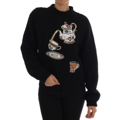Dolce & Gabbana Black Wool Cashmere Sweater