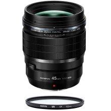 OLYMPUS 45MM F1.2 PRO Black + HOYA UX UV 62mm Filter