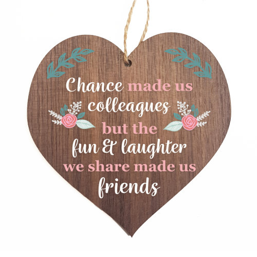 Chance made us colleagues decorative plaque or sign