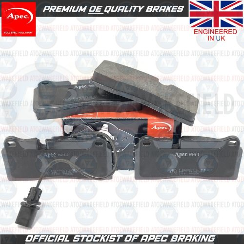 FOR AUDI R8 (4S) 2015- REAR OE QUALITY PREMIUM APEC BRAKE PADS SENSOR (356mm)