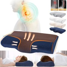Butterfly Shaped Orthopedic Bed Pillows - Massage Memory Foam Pillow for Sleeping and Neck Pain Relief