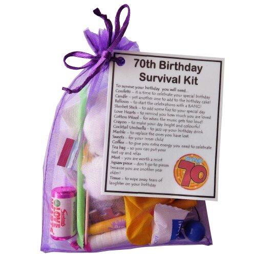 70th Birthday Survival Kit Gift | 70th Birthday Card Alternative
