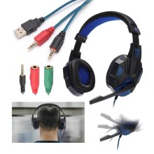 Gaming Headset MIC Headphones for PC SW Laptop PS4 Slim One X S 3.5mm