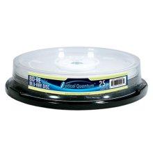 Optical Quantum OQBDRE02LT-10 10 Pack 2X 25GB BD-RE Blu-ray Blank Disc Logo Top