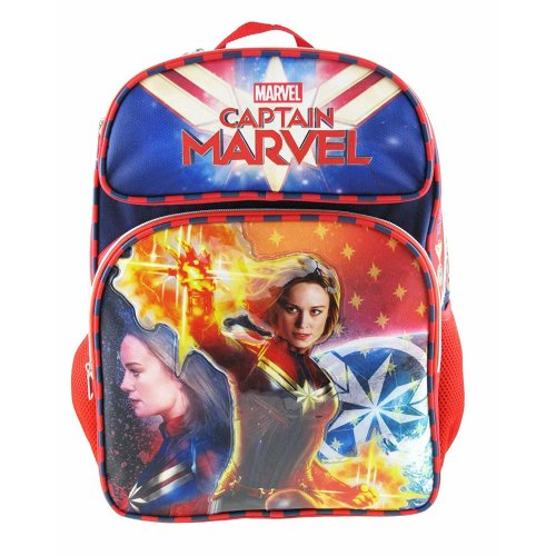 "Backpack - Marvel - Captain Marvel - Superhero Girl 16"" New 008888"